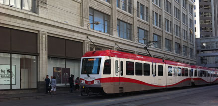 C-Train Downtown Calgary