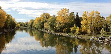 Fall Water Reflection