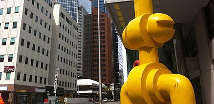 Downtown Calgary Statue